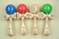 Wholesale Japanese Traditional Retro Game Toy Kendama Ball bamboo kendama ball CM DHL