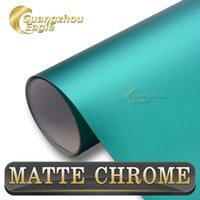 aluminum lake - PVC Lake Green Matte Chrome Vinyl Metallic Chrome Car Wrap For Car Body Decoration m