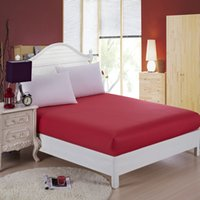 Wholesale Red Memory Foam Mattress Topper King Queen Size Fitted Sheet