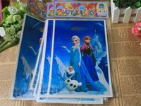 Cheap Frozen Loot Bags Kids Birthday Party Decoration Elsa and Anna Princess Printing Christmas Party Supplies Gift Bags