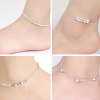 Wholesale Hot Women Plated Chain Anklet Bracelet Barefoot Sandal Beach Foot Jewelry