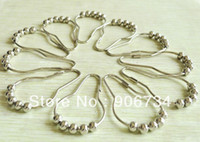 Wholesale High Quality New Alloying Pratical Rustless Five Beads Bath Curtain Hook New Promotion