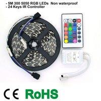 Cheap 5050 RGB Non waterproof 300 LEDs Strip 24-Keys IR Controller 2A Power Adapter DIY LED Light