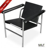 Wholesale MLF Le Corbusier LC1 Basculant Sling Chair Backrest Movable Ability to Tilt Seat Adjustable Premium Saddle Pony Leather