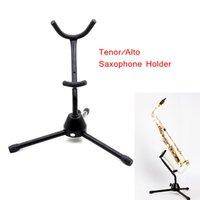 Wholesale High Quality Saxophone Stand Sax Tripod Holder Metal Leg Detachable Foldable for Tenor Alto Saxophone