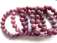 aa ruby - Genuine Ruby gemstone AA grade mm inch round ball Bracelete red jewelry beads