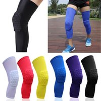 basketball knee guards - Honeycomb Kneepad Safety Protective Knee Pads Leg Knee Sleeve Protective Pad Support Guard Hexpad Basketball Sports Elastic Leg Knee Pad