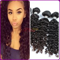 extension natural hair curl - Hot sale cheapest Factory spring curl hair weaving Natural Brazilian Human Hair Extension hair wig