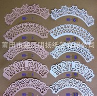 Wholesale 10styles Party Decorations Event Pearl pape Cupcake Wrappers CupCake Toppers Picks Kids Birthday Supplies Party Favors H01600