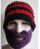 Wholesale 2014 hot sale Hats Beanie Skull Caps Bearded Wool Knitted Hats Beard Knitted Hat Warmer Ski Bike Skull Hat Unisex Men Beard Cap DHL