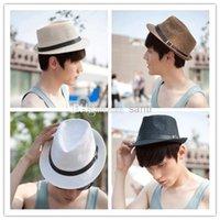 Wholesale New Arrive Unisex Trilby Gangster Cap Summer Beach Sun Straw Panama Hats