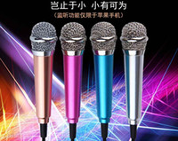 Wholesale Mini Small Metal Microphone For iPhone s plus Samsung android Mobile Laptop ipad mini air pro MM High Performance Microphone