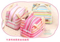 best cooler bags - Fashion Lovely colorful stripes Square ice pack Cooler Bags Korea Lunch bag with rice package ice bags hot sale best gift