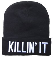 Wholesale 4 colors Gray Black Blue Red Killin It Beanies hats for man woman American football basketball baseball Sports beanies Albums offered HF