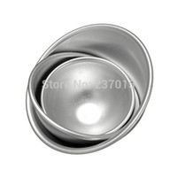 ball cake pans - 1Set Sizes D Semicircle cake fondant cake mold Aluminum Ball Sphere Bath Bomb Cake Pan Tin Baking Mold Pastry Mould