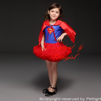 Wholesale Pettigirl Christmas New Arrival Grils Red Dresses Super Man Style And Capelet Cartoon Summer Baby Children Tutu ClothesTD30811