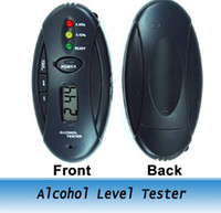 Wholesale Keychain Breathalyzer Digital Alcohol Breath Tester Flashlight Stopwatch