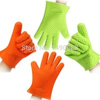 Wholesale 1PCS Heat Resistant Silicone Glove Cooking Baking BBQ Oven Pot Holder Mitt Kitchen