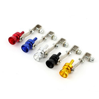 Wholesale Universal Car BOV Turbo Sound Whistle Simulator Sound Pipe Exhaust Muffler Pipe Red