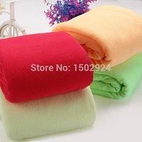 Wholesale 70x140cm Colors Microfiber Absorbent Towel Car Clean Drying Cloth Washcloth order lt no track