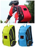 led point - New Fashion LED light point Bags Outdoor bike Cycling Sport The Backpack School Shoulder bag backpacks for women men colors Waterproof DHL