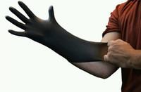 exam gloves - USA Warehouse Black Nitrile Powder Free Medical Exam Tattoos Piercing Gloves Size Large Gloves per Box Tattoo accessories supplies