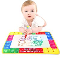Wholesale 29x19cm Baby Kids Water Drawing Painting Writing Mat Board with Magic Pen Doodle Gift Christmas