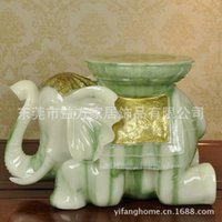 Cheap Chinese minimalist style resin crafts imitation jade elephant stool stool changing his shoes and practical furnishings entrance