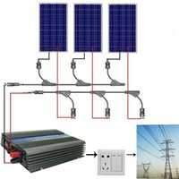 pv solar panel - EU stock Large USA style W COMPLETE KIT W WATT PV poly Solar cell Panel V on grid solar system no taxis no duty