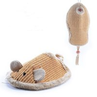 Wholesale Cats Scratchers Toy Kitty Sisal Playing Furniture Hang Platform Toys for Fun Kitten Hanging Scratching Tables Mice Shoes Style
