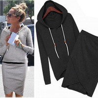 hooded sweat jackets - Women Baseball Jacket Casual Sweat Skirt Suits Sport Sweatshirt Shorts Tracksuits Animal Hoodies Dress Suit