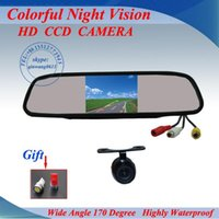 Wholesale Promotion Car Rear View Back up Camera quot Mirror monitor parking assistance Rearview kits