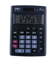 8 digit dual power calculator - Calculator deli cute SOLAR Dual Power Fashion Digit big display Portable mini Calculator hotsell freeshipping