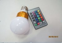 Wholesale 16 color changing Factory outlet Low price AC V RGB LED Lamp W E27 led Bulb Lamp with Remote Control led lighting CREE 3