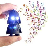 Plastic star wars - 2016 New LED Keychain Luminous Star Wars Darth Vader Music Light Keychain Pendant Creative Kids Accessory