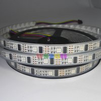 Venta al por mayor 50m 10x5M WS2801 2801 32 LEDs / M 5050 SMD Pixel RGB a todo color LED tira de luz PCB blanco direccionable impermeable IP67 5V