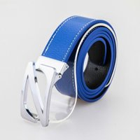 Wholesale Gold silver letter N buckle genuine leather waist belt for men and women mens high quality cowskin jeans leisure belts