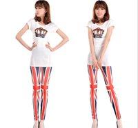 union jack dress - 2015 leggings black milk leggings party dress plus size New women seamless printing Union Jack nine Leggings