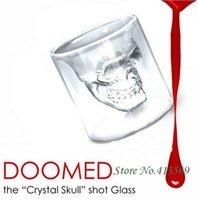 Wholesale Doomed Crystal Skull Shot Glass Skull Head Vodka Shot Wine Glass