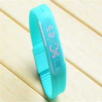 Wholesale 1000pcs Mix colors LED touch screen watch waterproof bracelet couple tables silicone mini electronic watch