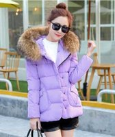 Wholesale New Women Winter Coat Large Fur Collar White Duck Down Jacket Coat Thickening Hooded Women Duck Down Parkas E114