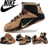 cavalier - Nike Lebron Lebron XII Cork QS EXT Men Basketball Shoes Cavaliers James Men sneakers Discount Sports Shoes