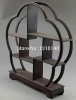 wood carving statue - JiChi wood handwork carved stand shelf For netsuke snuff bottle small statue A1