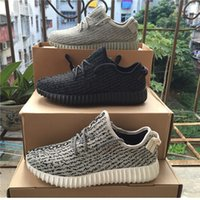 cotton lace fabric - With Original Box New Arrival yeezy boost Running Shoes Fashion Women and Men Kanye West milan Running Sports Shoes