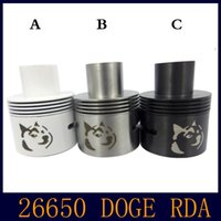Doge RDA Atomizer SS Noir 28mm Tank Airflow Control Doge Atomiseur VS Onslaught Monstre Cloud V2 Big Dripper ajustement Caravela VIA DHL