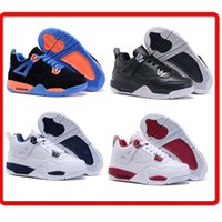 b school - Free Shiping Cheap Children Athletic Retro Boys And Girls IV Sneakers Kids Basketball Shoes New In Box For School Season
