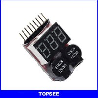 Wholesale s RC parts New Digital Lipo battery buzzer Alarm for testing Battery Voltage tester