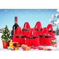 Wholesale Christmas items Santa pants style Christmas candy gift bag Xmas Bag Gift Christmas Sugar Packaging Bag Flannel Bags Christmas1712016