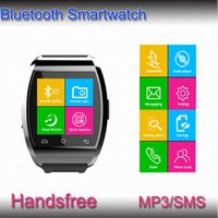 smart watches with Pedometer For iPhone Samsung Smartphone black color Bluetooth Smart Watch U8 U Watch WristWatch for iPhone 6 4 4S 5 5S Samsung S5 S4 Note 3 HTC Android Phone Smartphones factory price