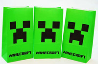 shopping bags paper - New arrival minecraft gift bag minecraft shopping bag paper bag minecraft paper bag cm